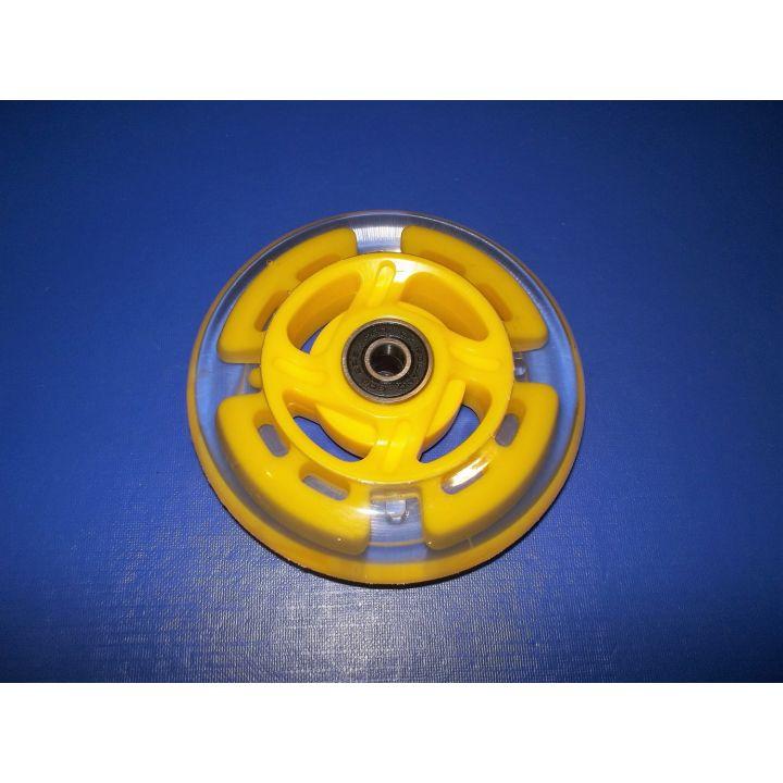 Колесо для самоката светящееся 100мм ф8 Желтое